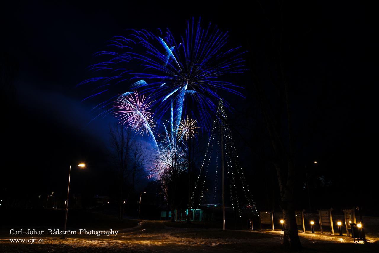 Fireworks in Åsele -Fyrverkerier i Åsele
