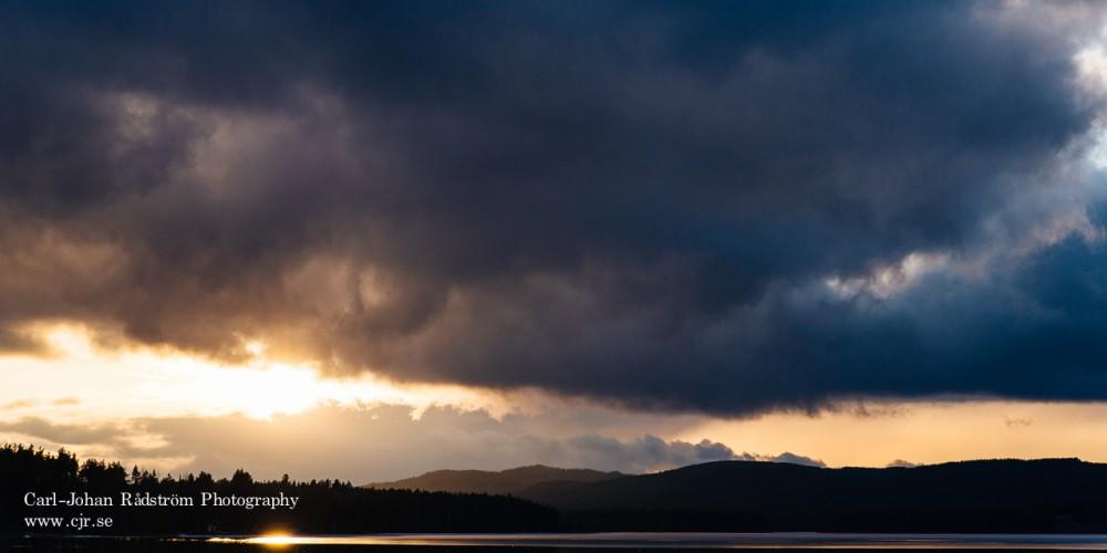 Solnedgång över Stamsjön