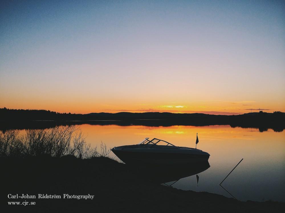 Solnedgång vid Stamsjön